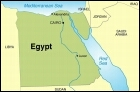 Map of Egypt and surrounding regions